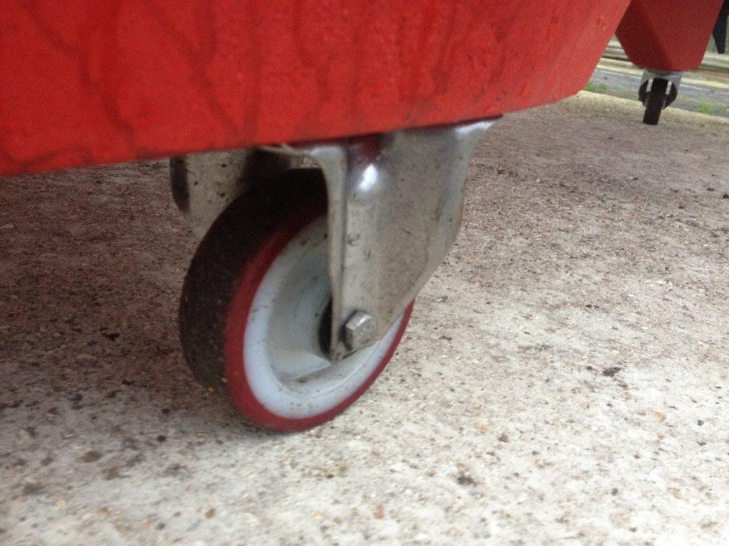 Integral Wheels for easy handling ashore